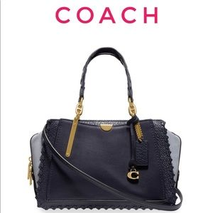 Coach Dreamer Colorblock Suede Satchel Bag purse